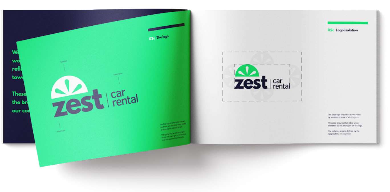 zest car rental brand guidelines